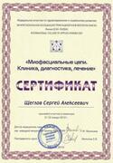 Сертификат. Миофасциальные цепи. Клиника, диагностика, лечение — 2012г